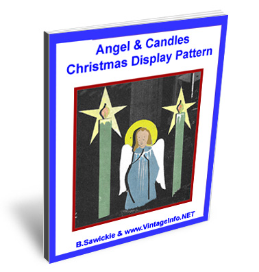 Angel & Candles Christmas Display Pattern