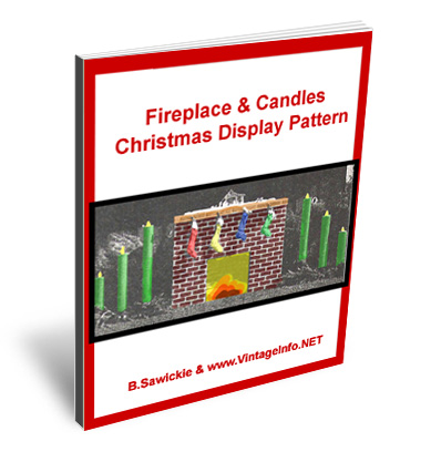 Fireplace Christmas Display Pattern