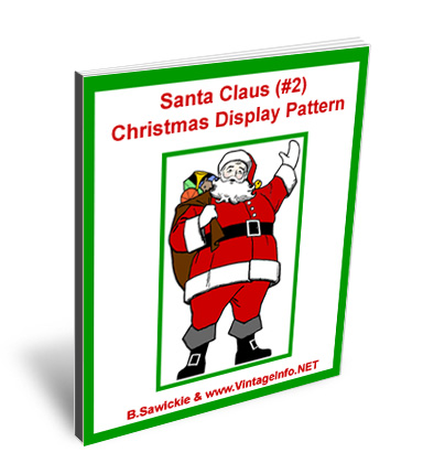 Santa Claus 2 Christmas Display Pattern