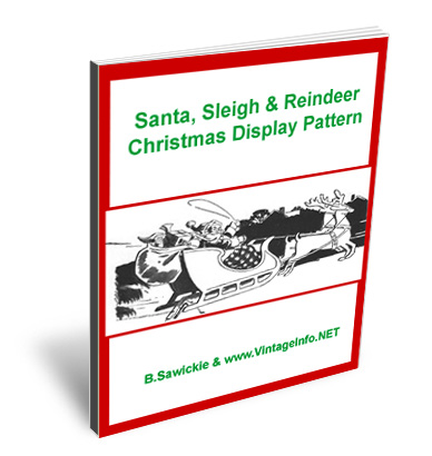 Santa, Sleigh & Reindeer Christmas Display Patterns