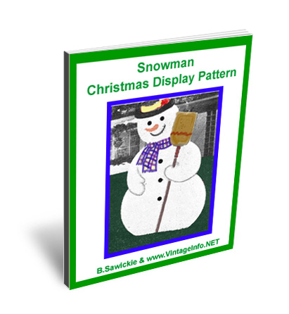 Snowman Christmas Display Pattern